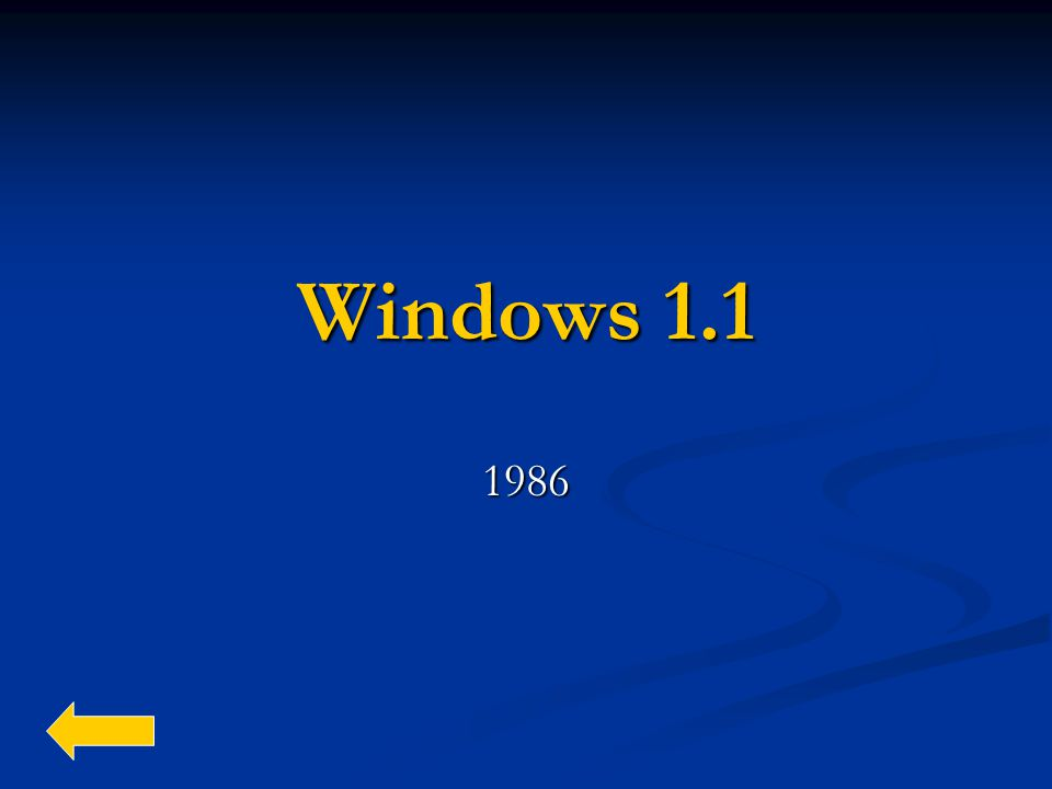 Windows 1.1 1986