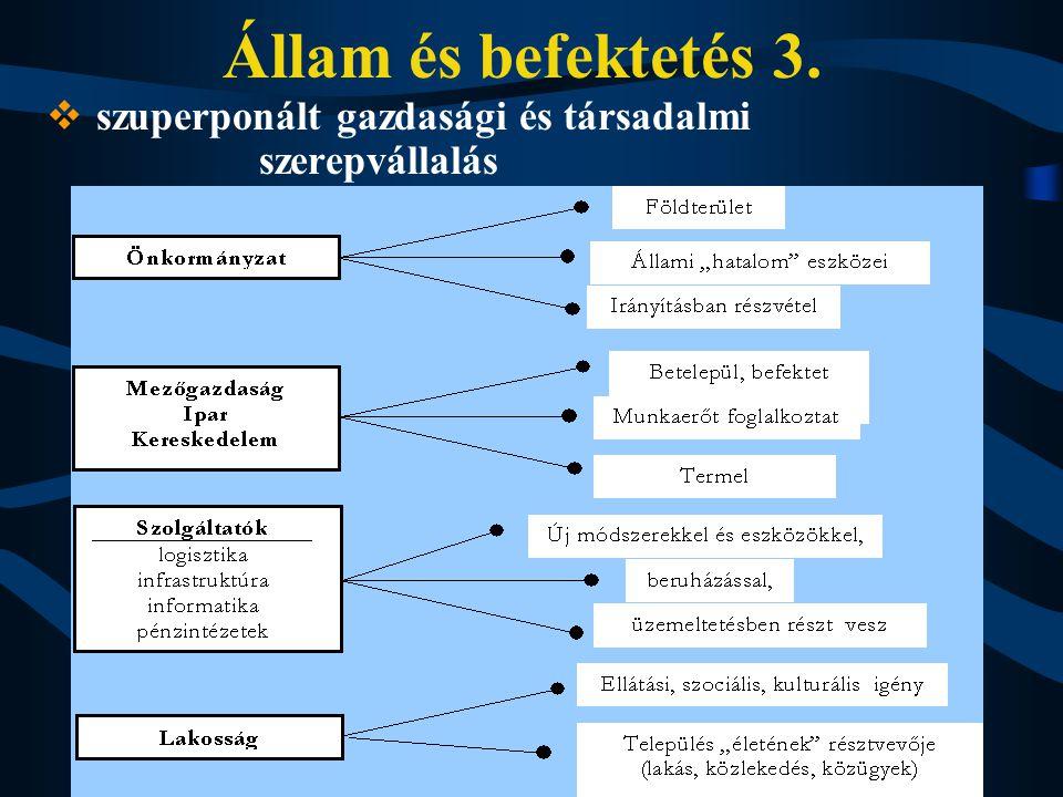 Állam és befektetés 3.  szuperponált gazdasági és társadalmi szerepvállalás