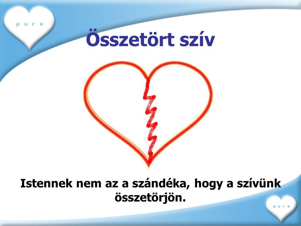 Összetört szív Istennek nem az a szándéka, hogy a szívünk összetörjön.