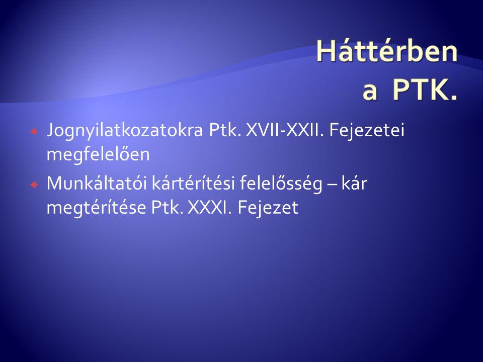  Jognyilatkozatokra Ptk.XVII-XXII.