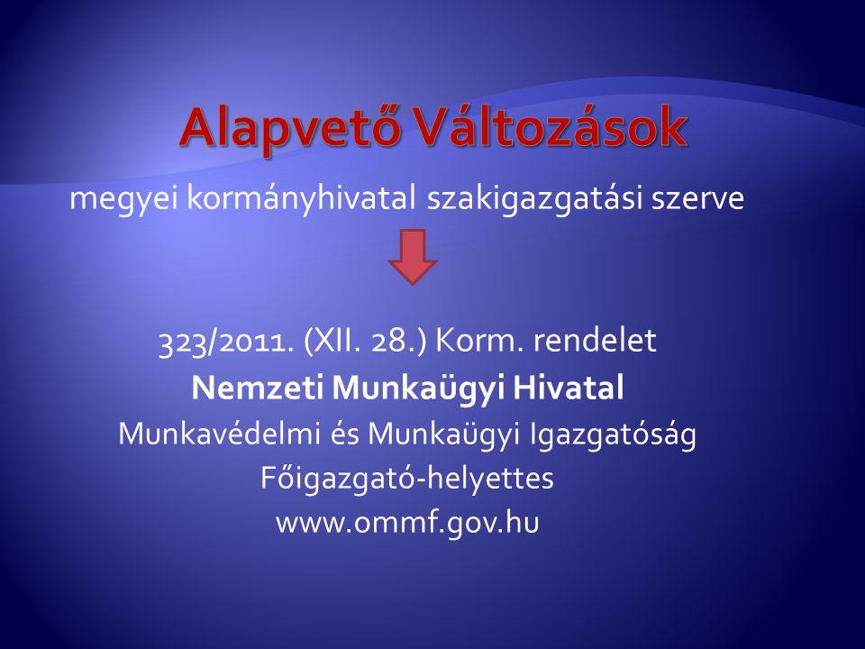 megyei kormányhivatal szakigazgatási szerve 323/2011.