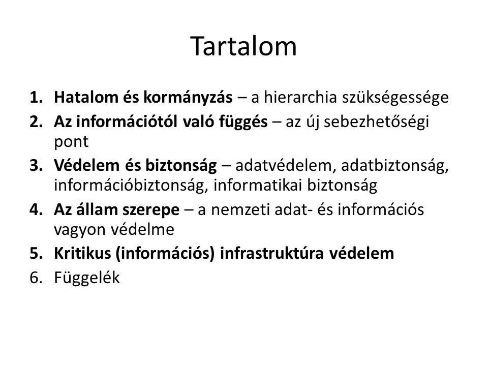 Kritikus információs infrastruktúra védelem • Eddigi hazai jogszabályok: – 2004.