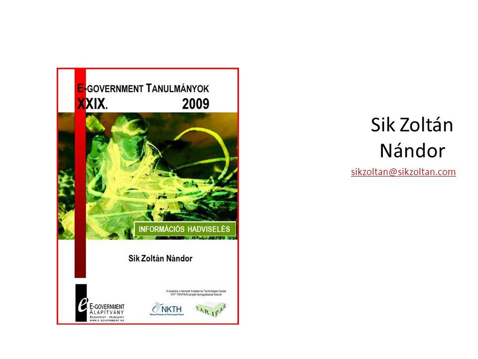 Sik Zoltán Nándor sikzoltan@sikzoltan.com