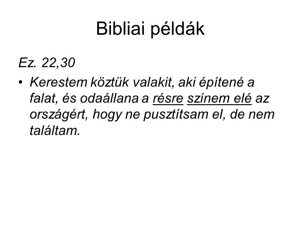 Bibliai példák Ez.