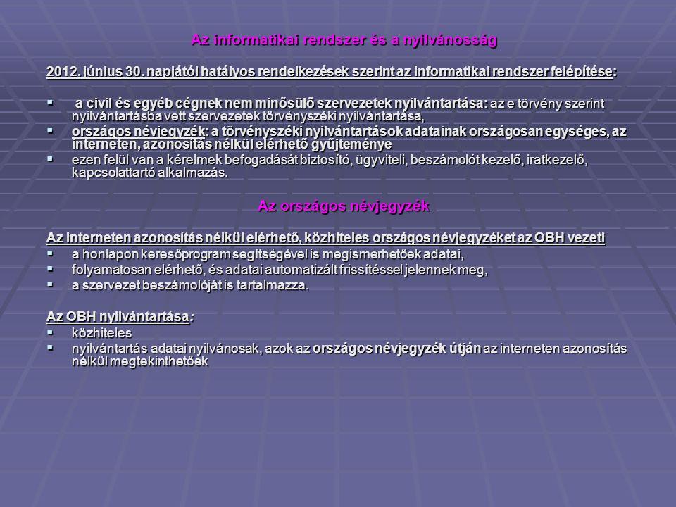 Az informatikai rendszer és a nyilvánosság 2012.június 30.