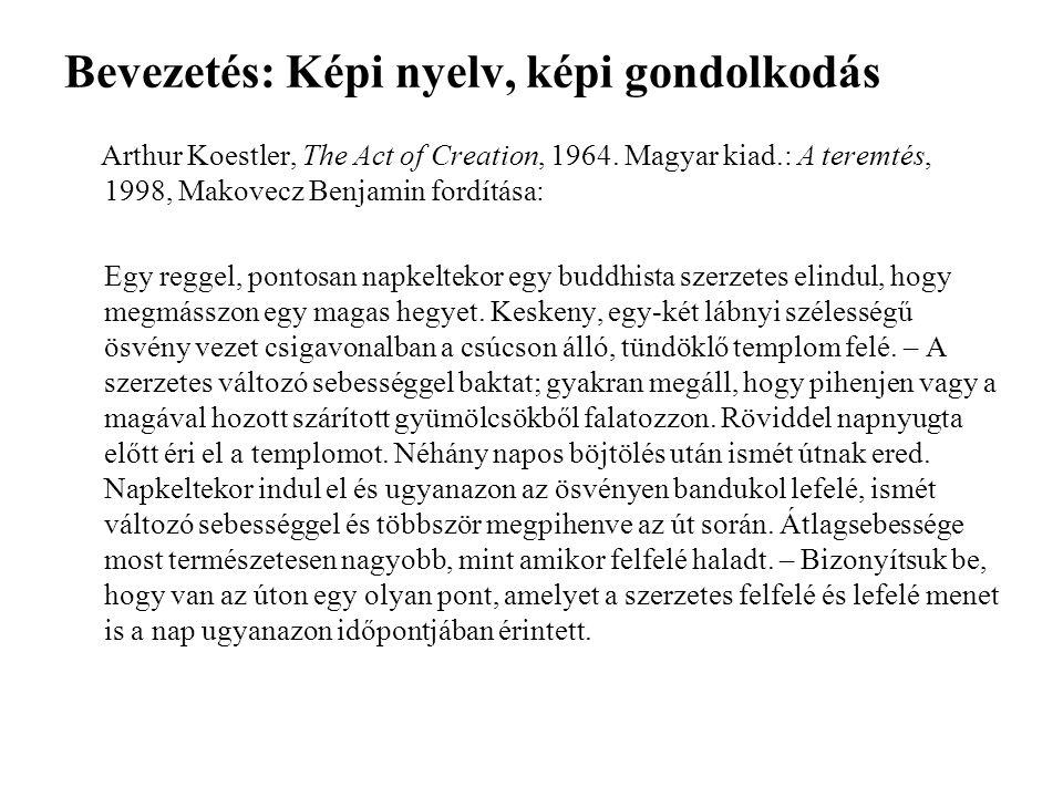 Bevezetés: Képi nyelv, képi gondolkodás Arthur Koestler, The Act of Creation, 1964. Magyar kiad.: A teremtés, 1998, Makovecz Benjamin fordítása: Egy r
