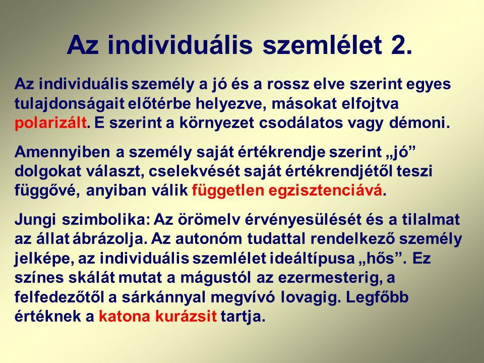 Az individuális szemlélet 2.