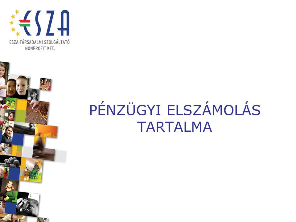 PÉNZÜGYI ELSZÁMOLÁS TARTALMA