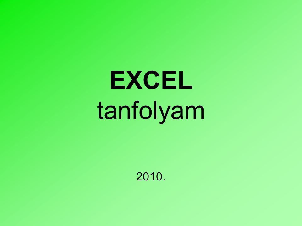2 Bevezető •A Microsoft Excel a Microsoft Office programcsomag része.