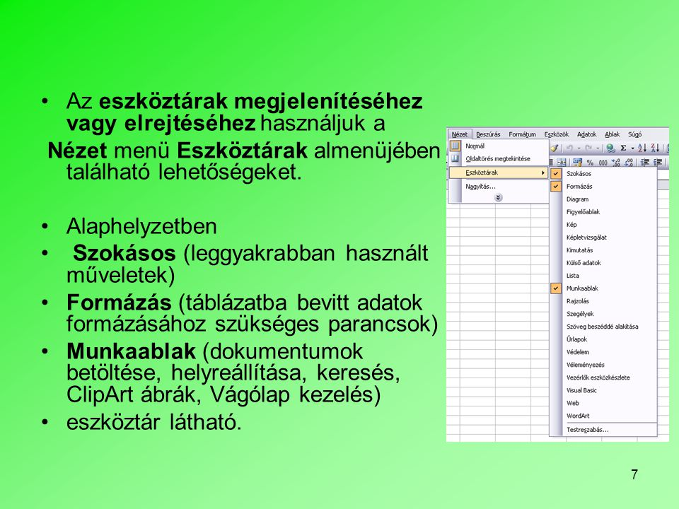 28 •Interneten való közzététel esetén Fájltípus listában a Weblap listaelemet válasszuk.