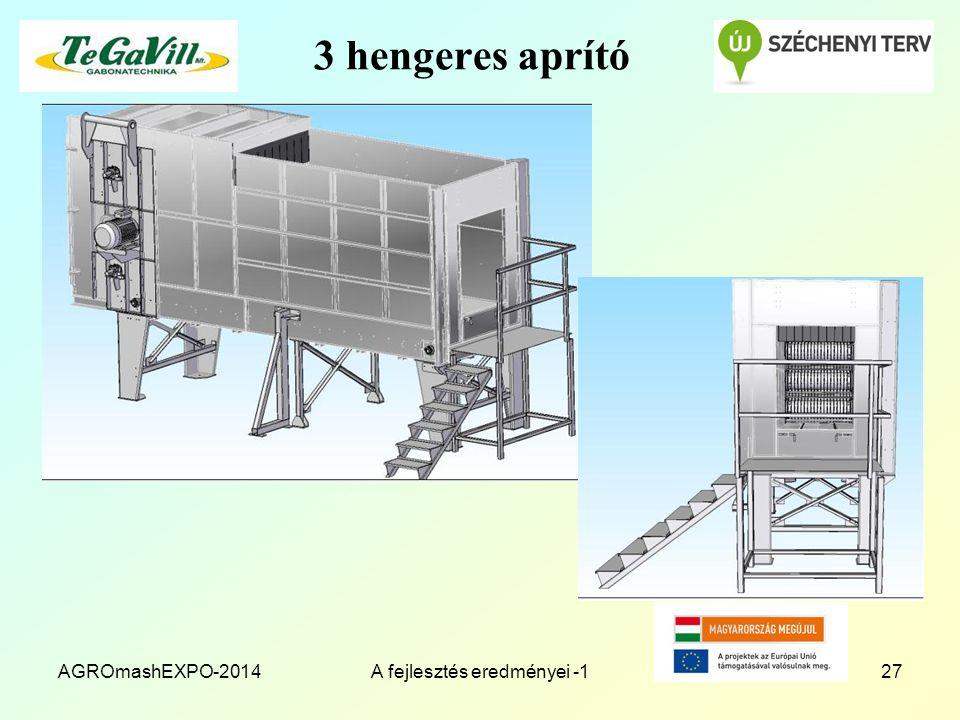 3 hengeres aprító AGROmashEXPO-2014A fejlesztés eredményei -127