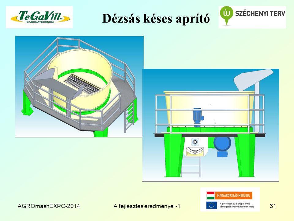 Dézsás késes aprító AGROmashEXPO-2014A fejlesztés eredményei -131