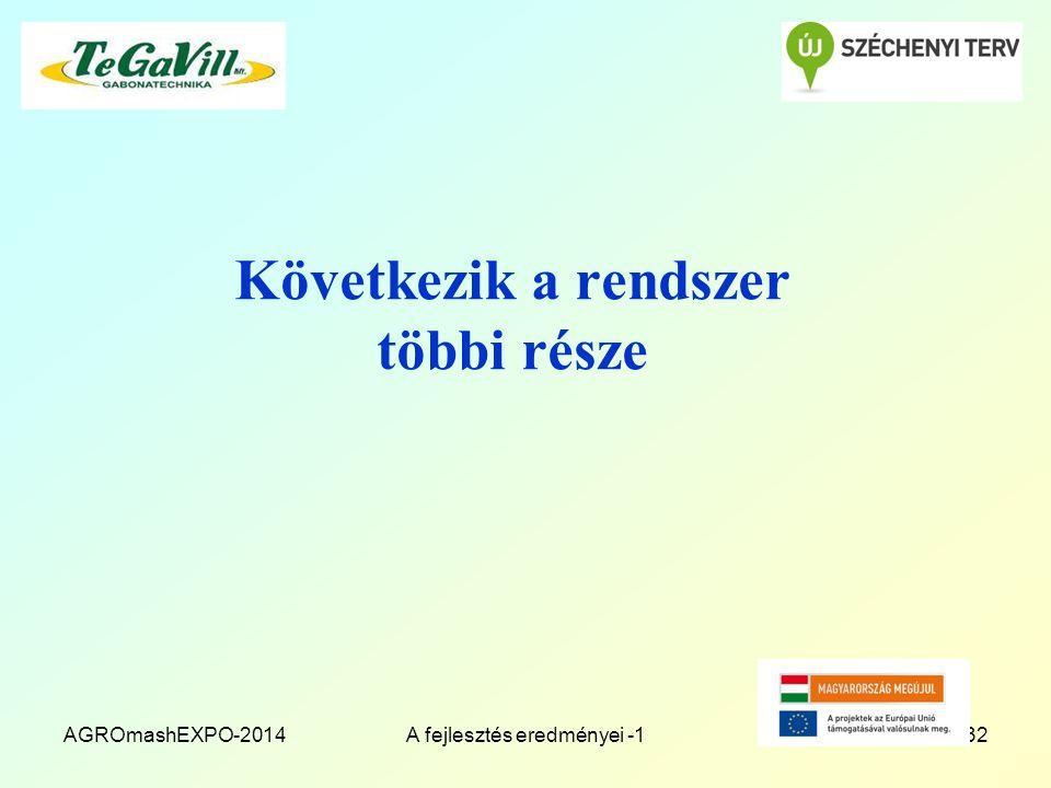 Következik a rendszer többi része AGROmashEXPO-2014A fejlesztés eredményei -132