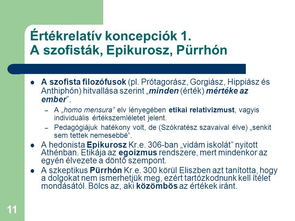 12 Értékrelatív koncepciók 2.