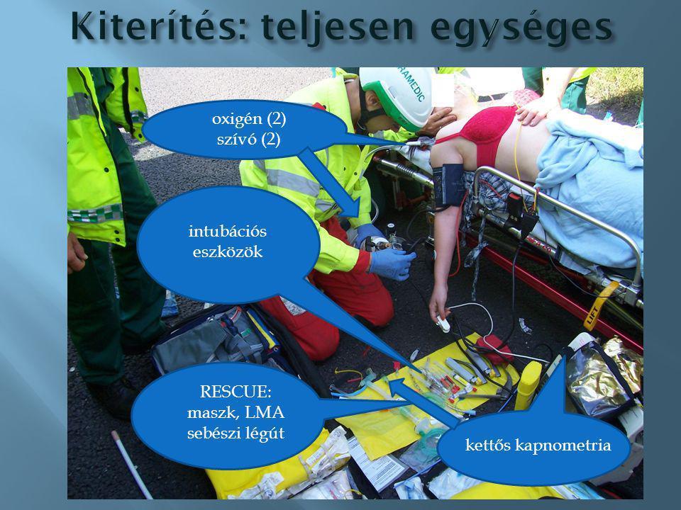 pozíciók CRM MILS checklista 100% oxigén maszk