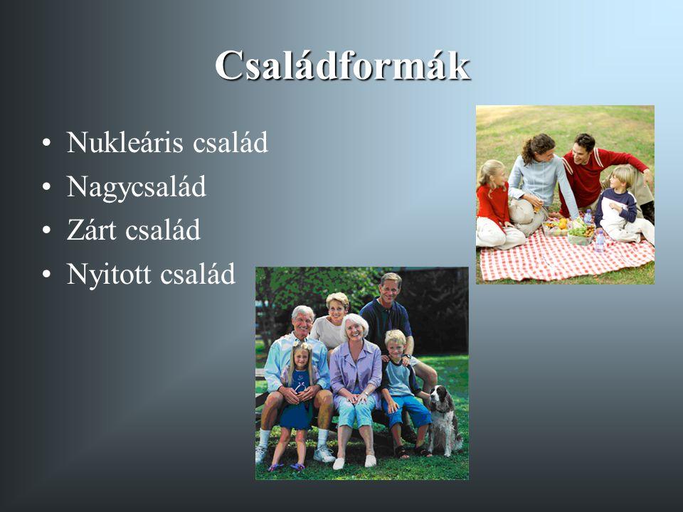 A családi nevelést meghatározó tényezők • •A család érzelmi légköre (meleg-hideg) • •A nevelés rugalmassága (nyílt-zárt) • •A követelmények határozottsága (erős-gyenge)