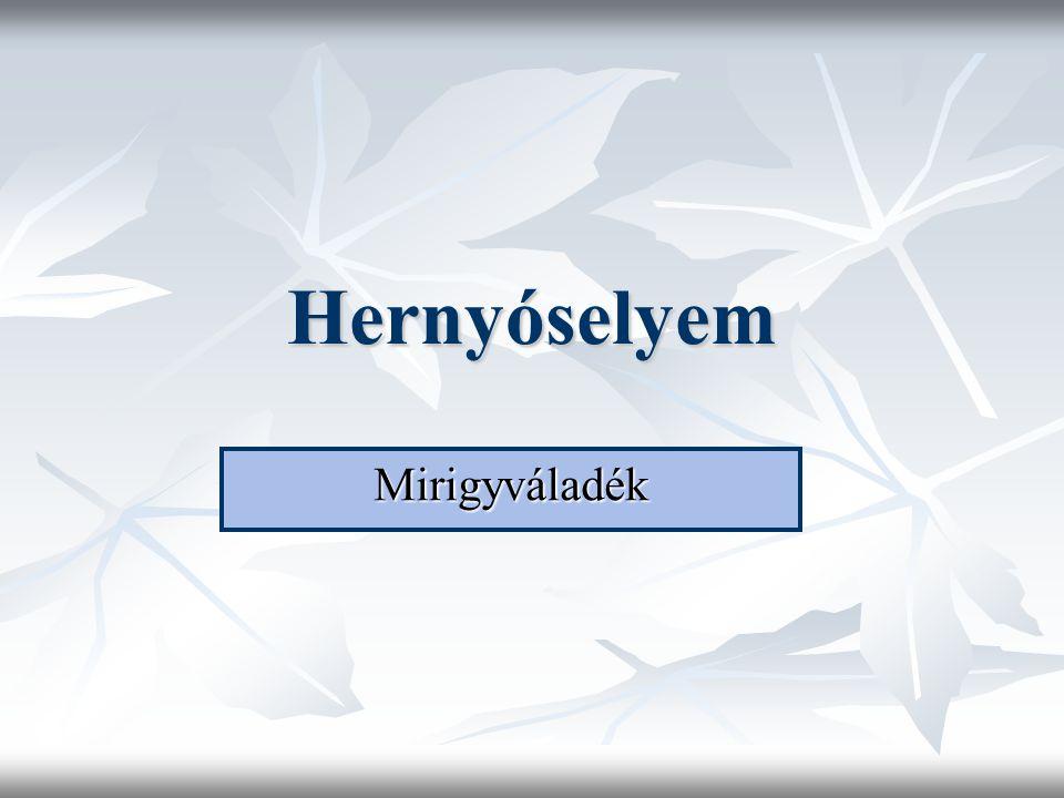 Hernyóselyem Mirigyváladék