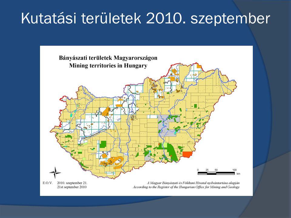 Kutatási területek 2010. szeptember