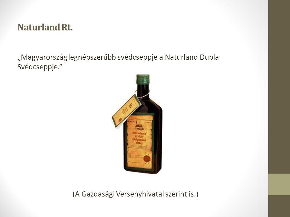 """Naturland Rt. """"Magyarország legnépszerűbb svédcseppje a Naturland Dupla Svédcseppje."""" (A Gazdasági Versenyhivatal szerint is.)"""