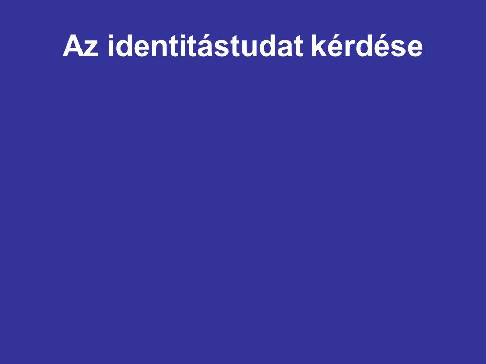 Az identitástudat kérdése
