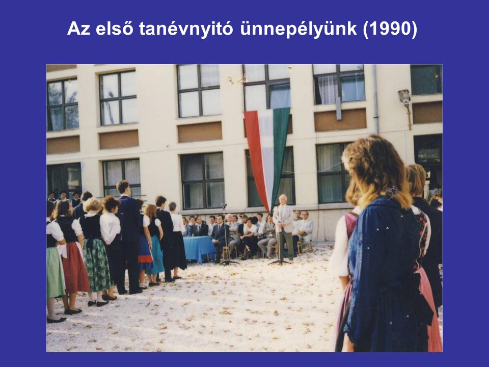 Az első tanévnyitó ünnepélyünk (1990)
