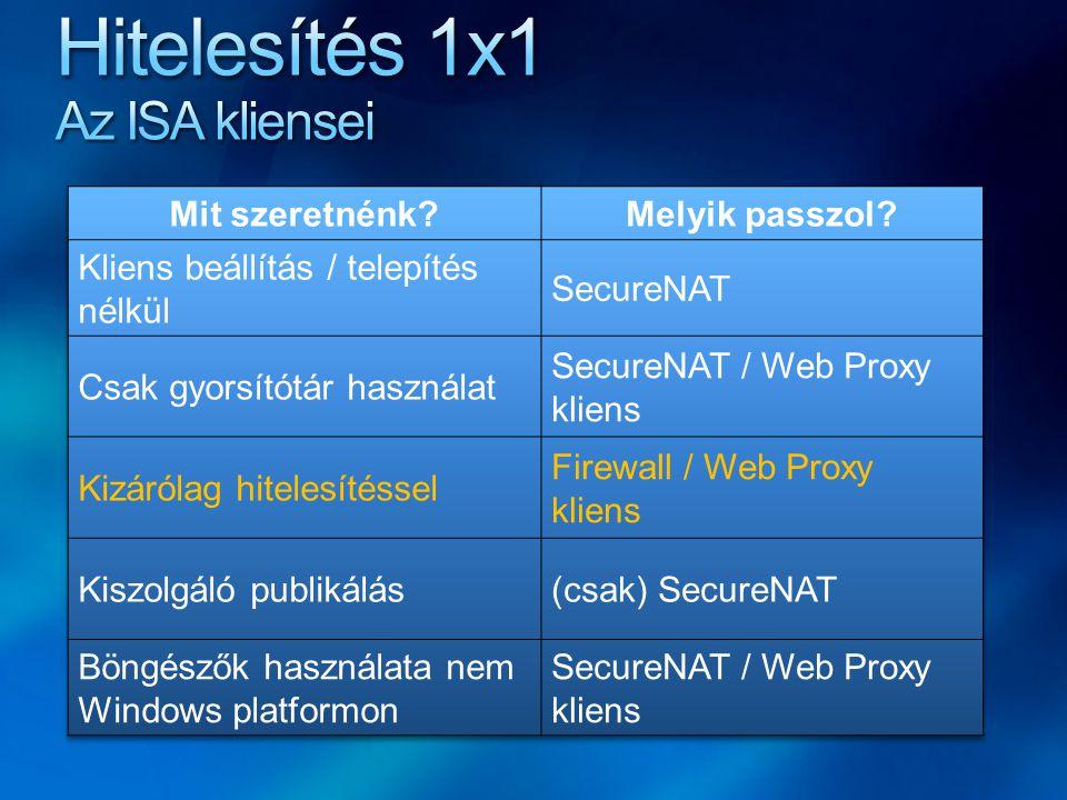 ISA Webszerver Proxy Server feladatkör