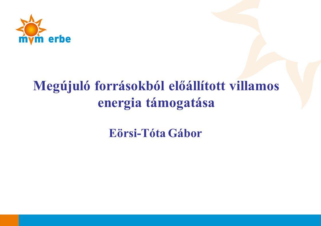 Megújuló forrásokból előállított villamos energia támogatása Eörsi-Tóta Gábor