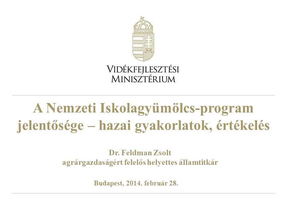 A Nemzeti Iskolagyümölcs-program jelentősége – hazai gyakorlatok, értékelés Dr.