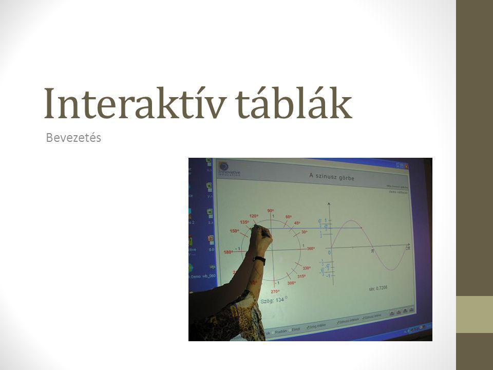Interaktív táblák Bevezetés