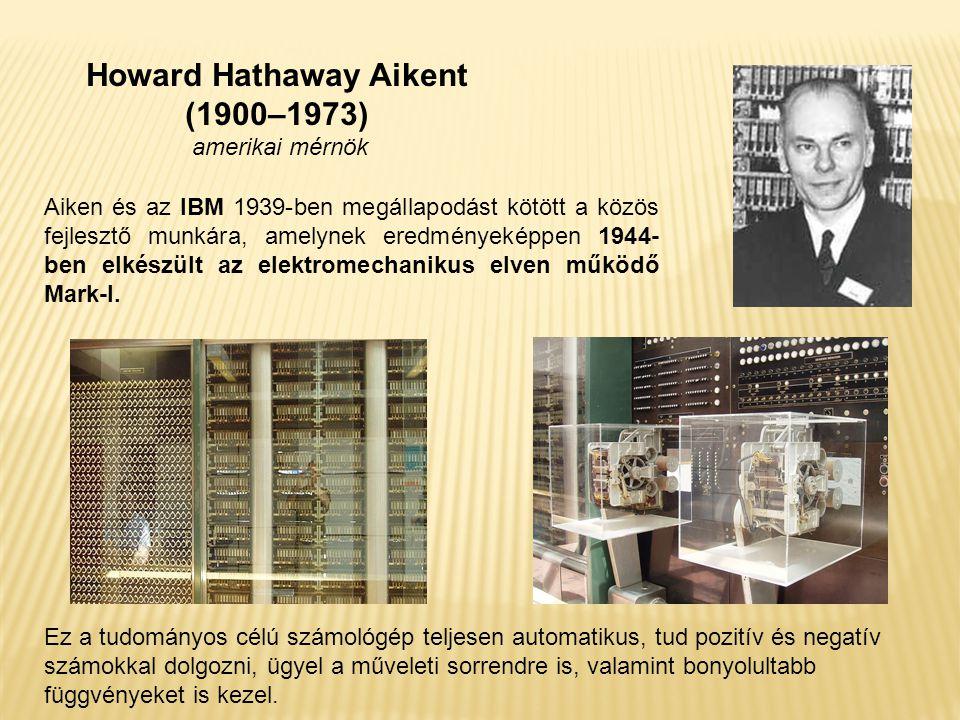 Aiken és az IBM 1939-ben megállapodást kötött a közös fejlesztő munkára, amelynek eredményeképpen 1944- ben elkészült az elektromechanikus elven működő Mark-I.