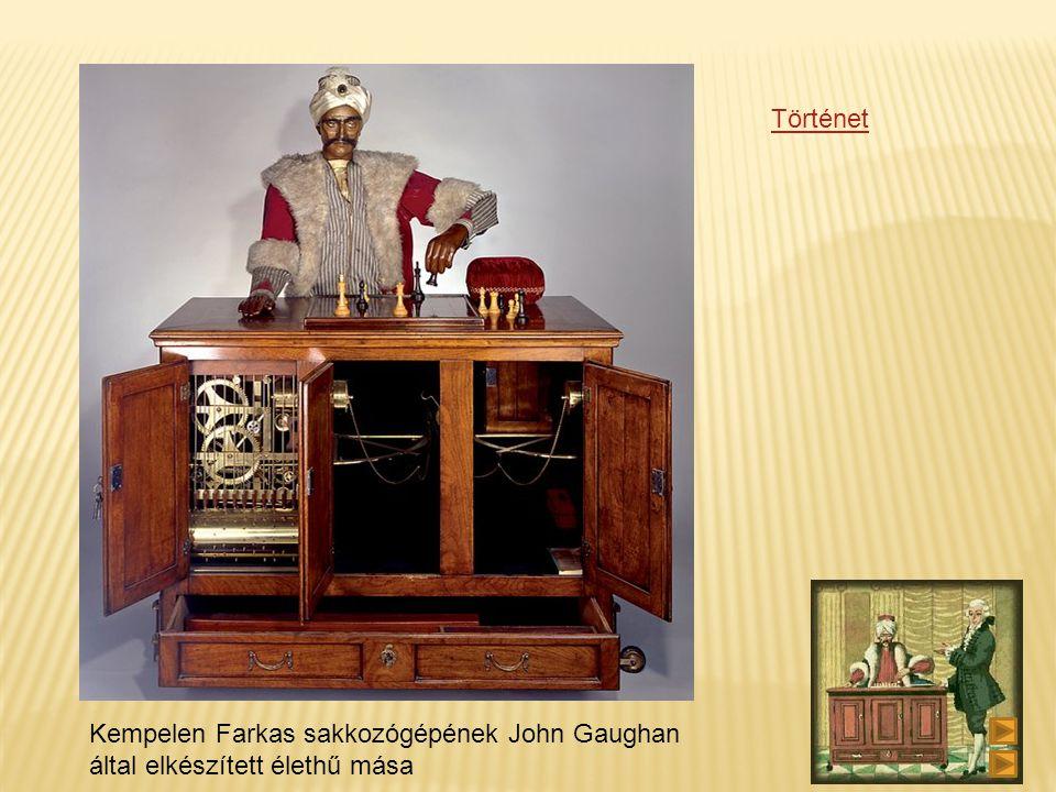Kempelen Farkas sakkozógépének John Gaughan által elkészített élethű mása Történet