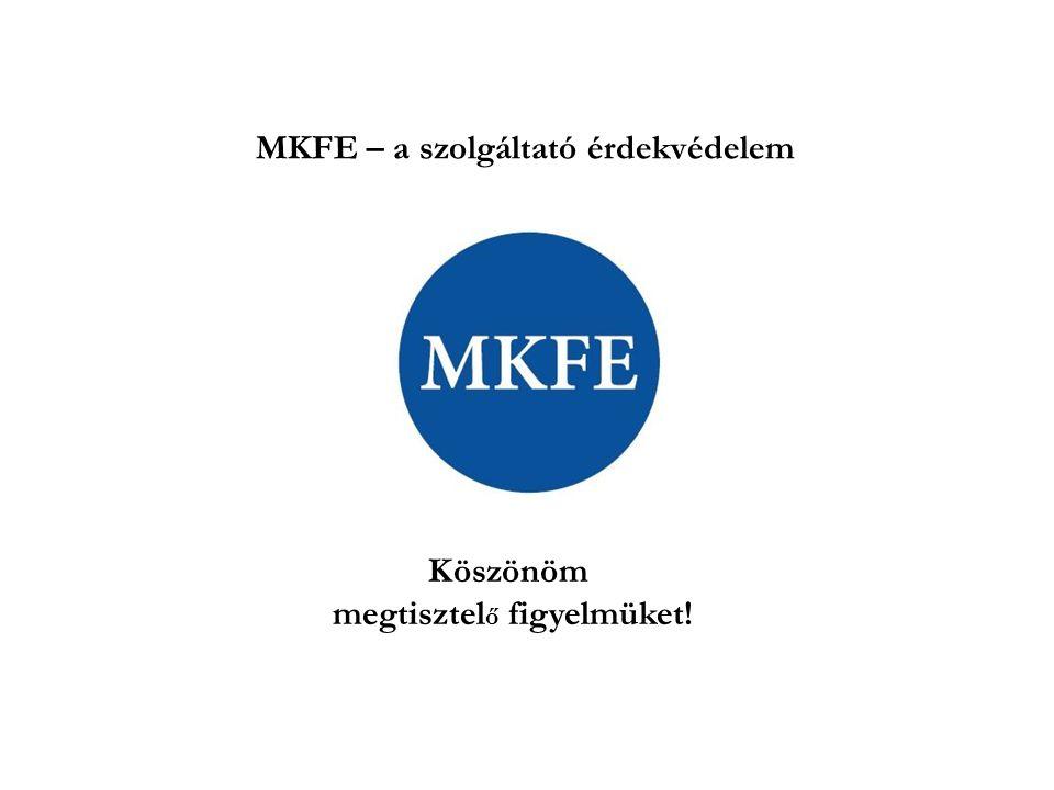 Köszönöm megtisztel ő figyelmüket! MKFE – a szolgáltató érdekvédelem