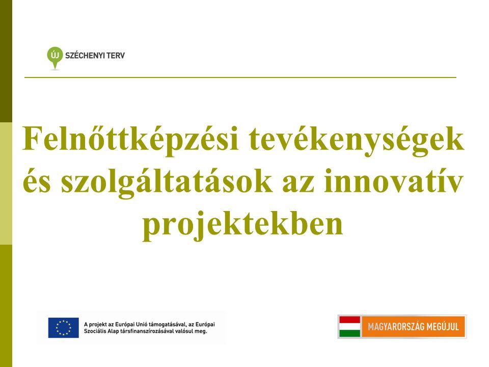 Felnőttképzési tevékenységek és szolgáltatások az innovatív projektekben