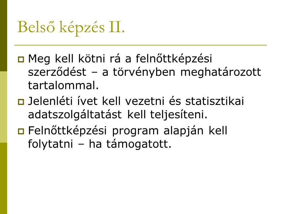 Belső képzés II.