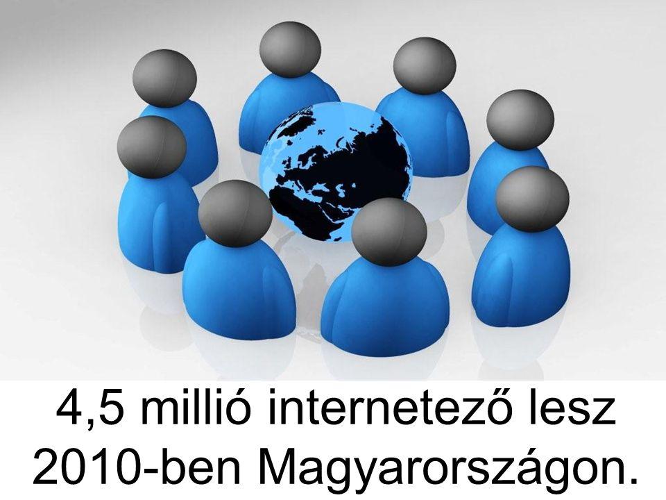 4,5 millió internetező lesz 2010-ben Magyarországon.