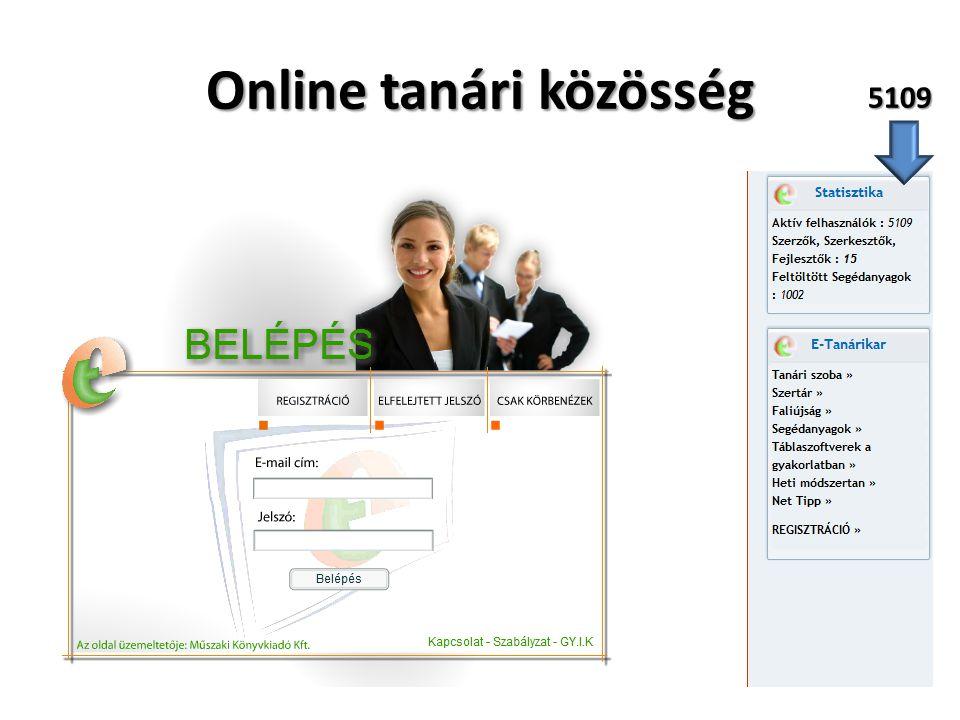 Online tanári közösség 5109
