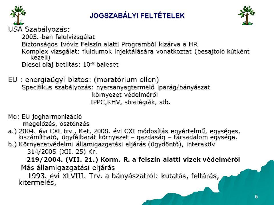 17 TECHNOLÓGIA ÜZEMELTETÉSÉNEK KÖRNYEZETI HATÁSA II.