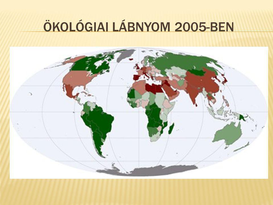 ÖKOLÓGIAI LÁBNYOM 2005-BEN