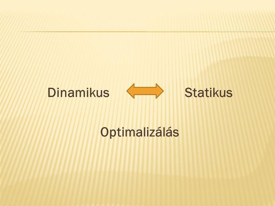 DinamikusStatikus Optimalizálás