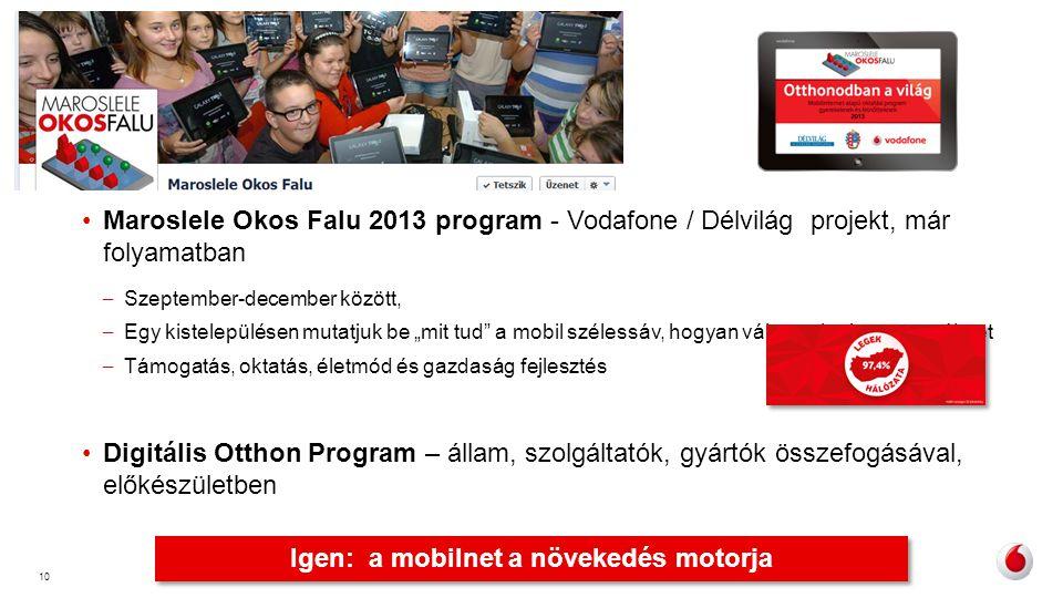 """10 •Maroslele Okos Falu 2013 program - Vodafone / Délvilág projekt, már folyamatban – Szeptember-december között, – Egy kistelepülésen mutatjuk be """"mi"""