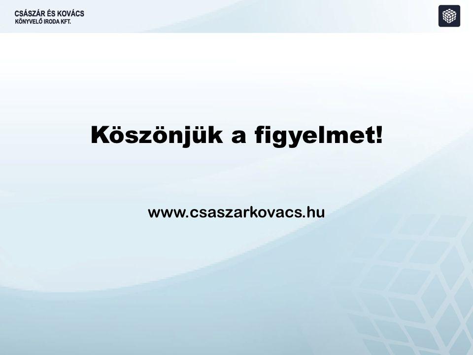 Köszönjük a figyelmet! www.csaszarkovacs.hu