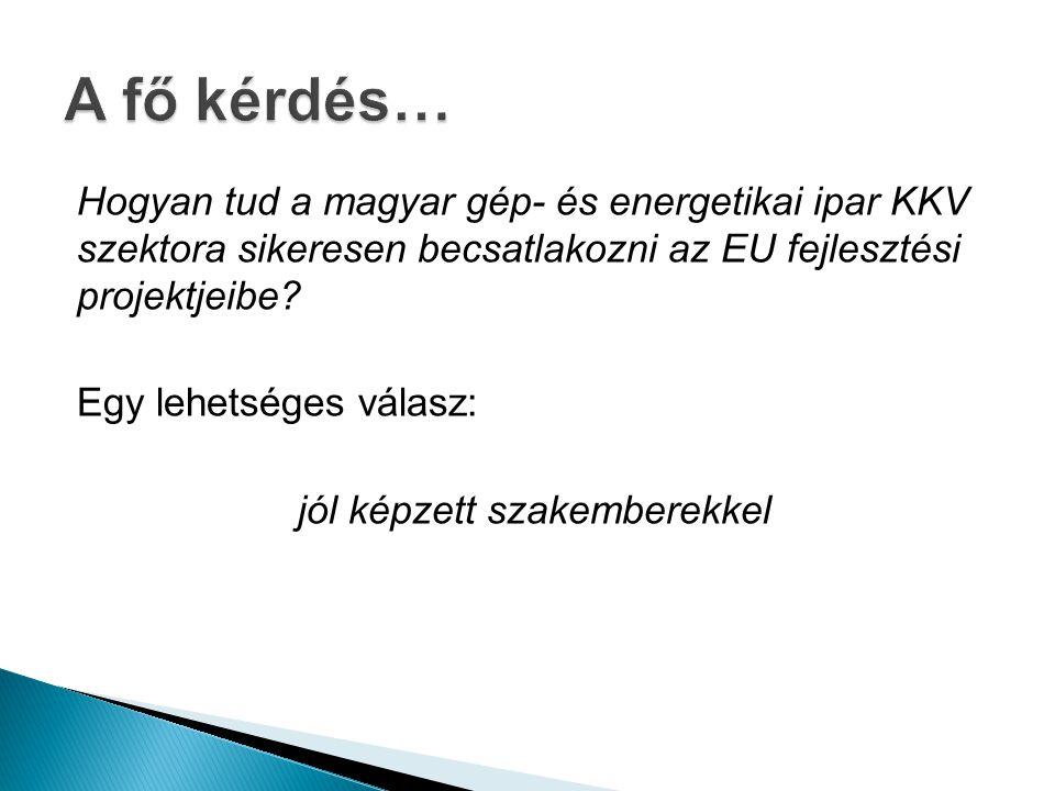 Hogyan tud a magyar gép- és energetikai ipar KKV szektora sikeresen becsatlakozni az EU fejlesztési projektjeibe.