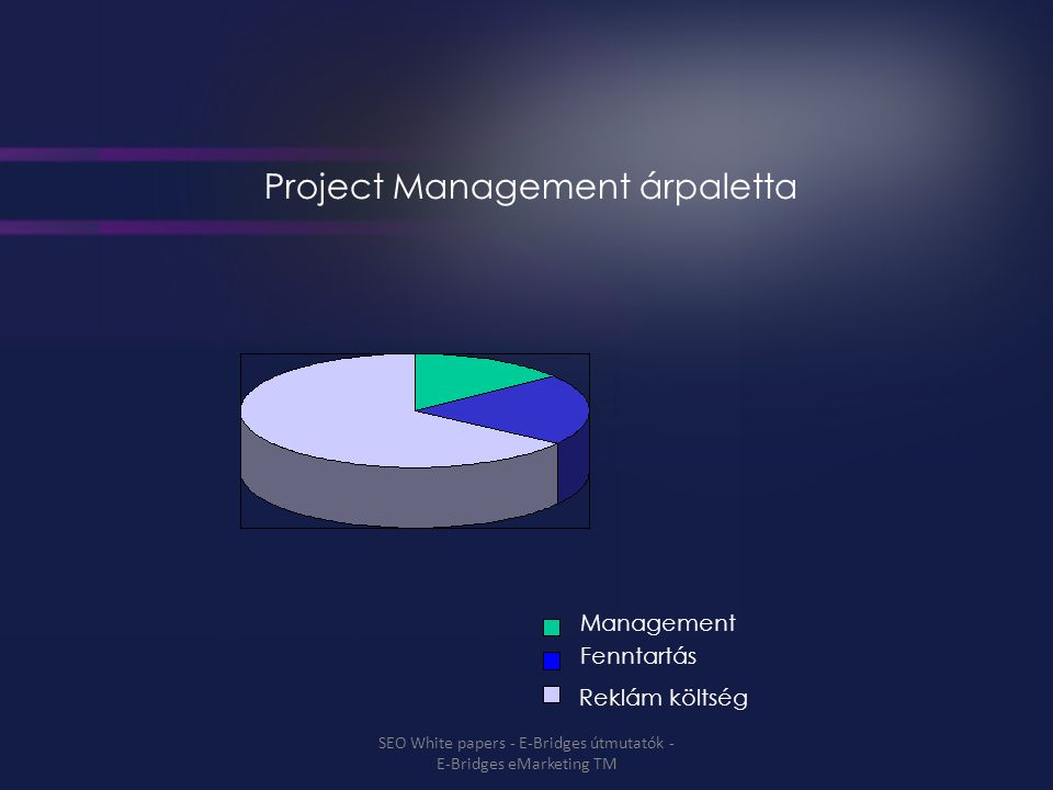Project Management árpaletta Management Fenntartás Reklám költség SEO White papers - E-Bridges útmutatók - E-Bridges eMarketing TM
