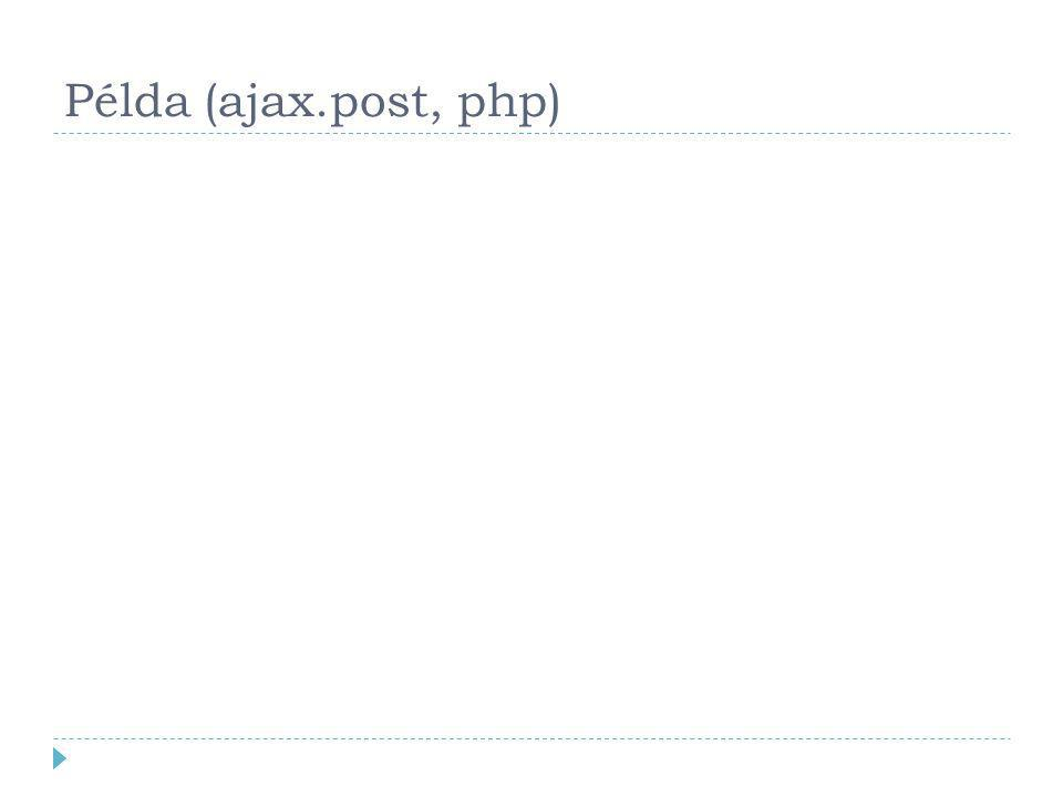 Példa (ajax.post, php)