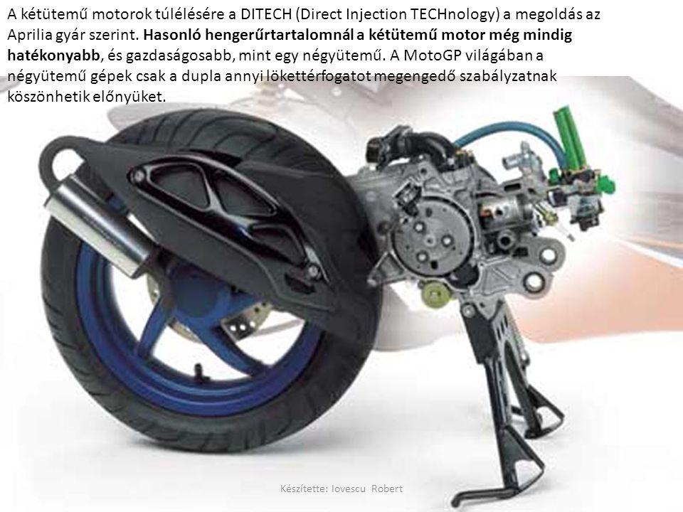 A kétütemű motorok túlélésére a DITECH (Direct Injection TECHnology) a megoldás az Aprilia gyár szerint.