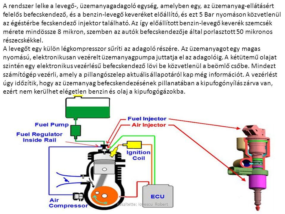 A rendszer lelke a levegő-, üzemanyagadagoló egység, amelyben egy, az üzemanyag-ellátásért felelős befecskendező, és a benzin-levegő keveréket előállító, és ezt 5 Bar nyomáson közvetlenül az égéstérbe fecskendező injektor található.