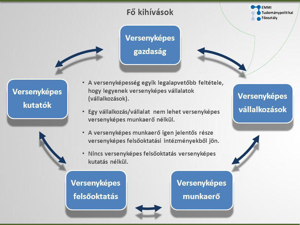Fő kihívások • A versenyképesség egyik legalapvetőbb feltétele, hogy legyenek versenyképes vállalatok (vállalkozások).