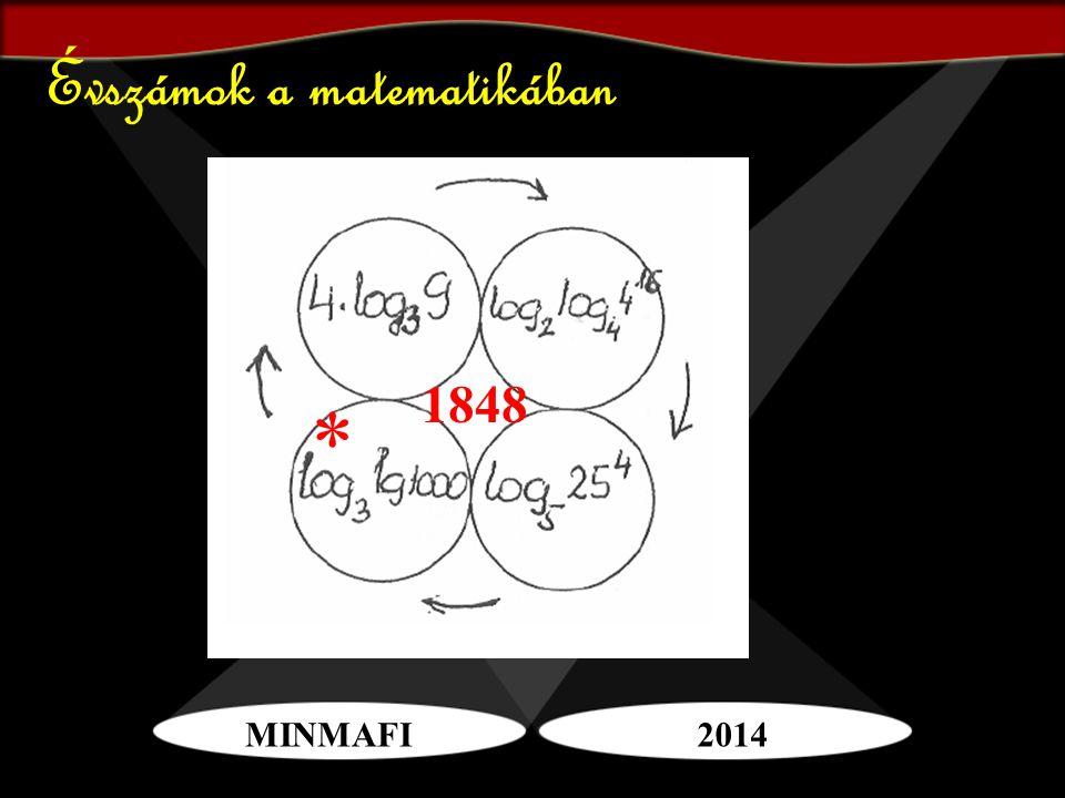 MINMAFI2014 Évszámok a matematikában * 1848