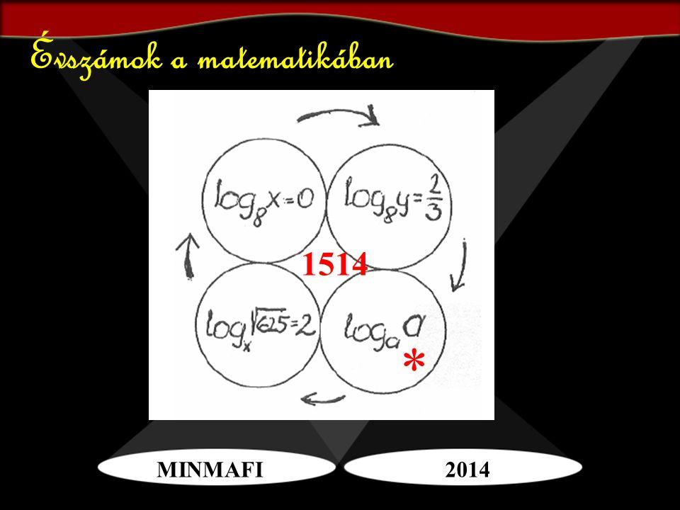 MINMAFI2014 Évszámok a matematikában * 1514