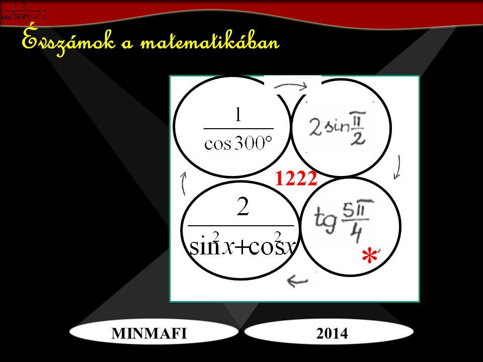 MINMAFI2014 Évszámok a matematikában * 1222
